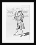 Man Looking through Sextant, ca. 1770 by Corbis