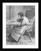 Woman Quilting on a Frame by Corbis