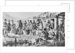 Illustration of People Paying Taxes in Ancient Greece by Corbis