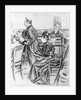 Drawing of Lizzie Borden and Her Lawyer in Court by Corbis