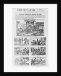 """Illustrated Front Page of the """"Emancipator"""" by Corbis"""