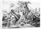 Daniel Boone Fighting Enemy by Corbis