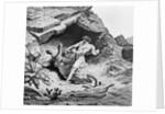Samson Killing Lion by Corbis