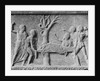 Stone Drawing of Nurses and Sick Patient at Tree by Corbis