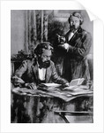 Friedrich Engels and Karl Marx in Office by Corbis