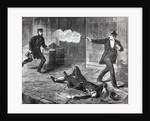 Illustration of Man Shooting at Police Officer by Corbis
