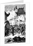 Illustration Depicting French Forces Conquering Hanoi by Corbis