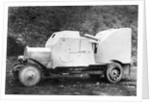 Early German Car with Gun Attachment by Corbis