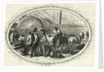 People on Edge of Loading Dock by Corbis