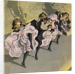 Four Girls Dancing Cancan by Corbis