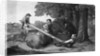 Children Playing on See-Saw by Corbis