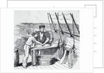 Illustration of Men Working on Whaling Ship by Corbis