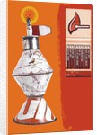 Montage of a Lantern and a Book of Matches by Corbis