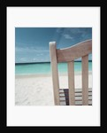 Back of Bench at the Beach by Corbis