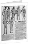 Men's Summer Underwear in Sears Catalog by Corbis