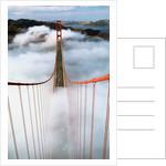Golden Gate Bridge Wrapped in Fog by Corbis