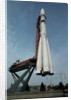Rocket at the Cosmos Pavilion in Moscow by Corbis