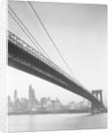 Brooklyn Bridge and Manhattan Skyline by Corbis