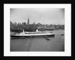 Cruise Ship in New York's Harbor by Corbis