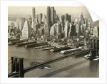Downtown Manhattan and Brooklyn Bridge by Corbis