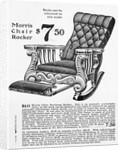 Advertisement for Morris Rocker Chair by Corbis