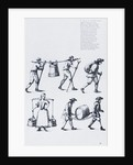 Illustration Depicting Men Carrying of Heavy Load by Corbis