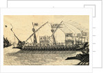 Galley Ship on the Seas by Corbis