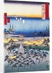 Demi Beach at Sumiyoshi in Settsu Province by Hiroshige