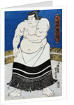 Japanese Print of a Sumo Wrestler Probably by Kunisada