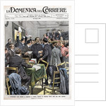 Newspaper Illustration of Maxim Gorky Arriving in Congress in London by Corbis