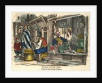 Boutiques d'une Rue d'Alger Woodblock Print by Corbis