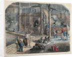 19th-Century Illustration of Beer Brewing by Corbis