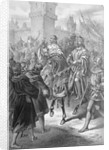 Frederick II Riding on Horseback by Corbis