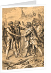 Hengist and Horsa Coming Ashore with Their Warriors by Corbis