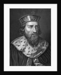 Engraving of Alfredus Magnus, King of Wessex by Caronni Longhi