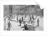Drawing Depicting Patrons of an Outdoor Gymnasium by Corbis