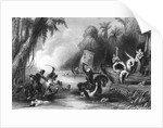 Illustrated Scene at the Sepoy Mutiny by Corbis