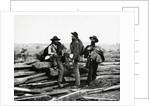 Confederate Prisoners Near Logs by Corbis