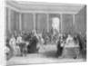 Rene Descartes Giving Geometry Demonstration by Corbis