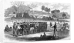 Engraving of William Walker Training His Soldiers at Virgin Bay by Corbis