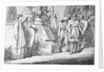 Depiction of Empress Theophano and Otto II with Party by Corbis