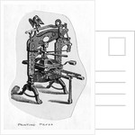An Early Printing Press by Corbis