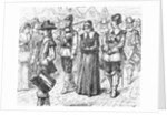 Illustration of Mary Dyer Led to Execution by Corbis