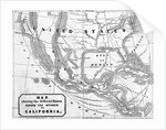 Early Map of United States Territories by Corbis