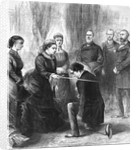 Benjamin Disraeli Being Ordained by Queen of England by Corbis