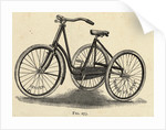 Illustration of a Ladies Tricycle by Corbis