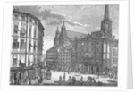 Engraving of Eisenstadt Town Square by Corbis