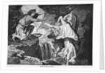 Engraving of Orpheus Reaching for Eurydice by Corbis