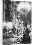 Illustration of Mozart Playing for Emperor Joseph by Corbis