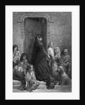 Noblewoman Giving Alms to Poor by Corbis